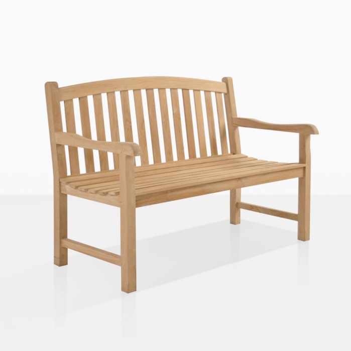Bowback Teak Garden Bench For Two