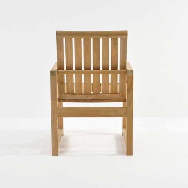 back side of Teak Capri Arm Chair