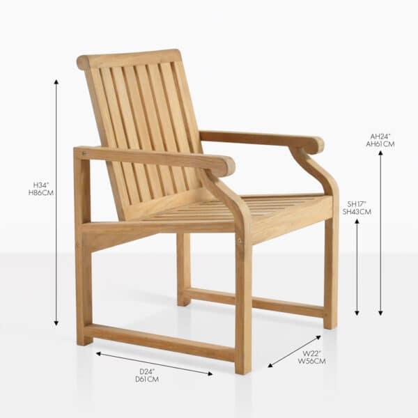 capri teak dining chair