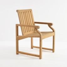 Capri Teak Dining Arm Chair-0