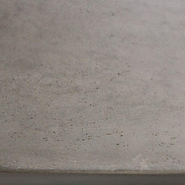raw modern lightweight concrete bench closeup