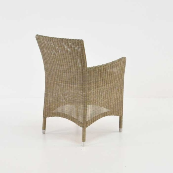 enna wicker armchair back view