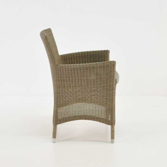 ... Enna Wicker Armchair Side View ...