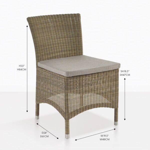 Enna wicker dining chair