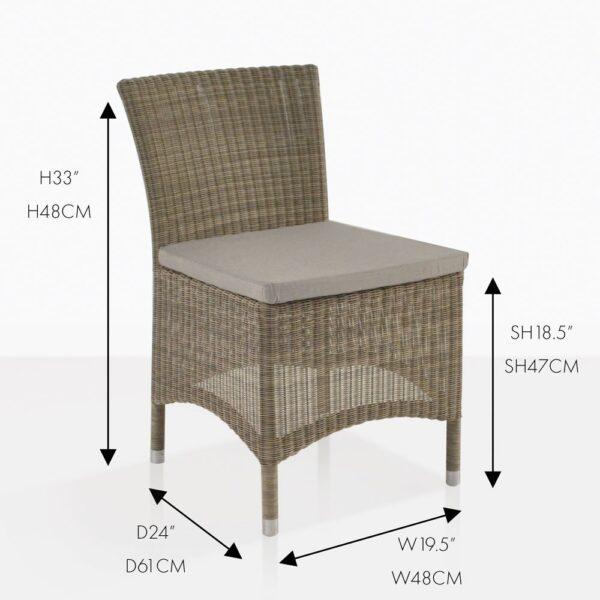 enna side wicker dining chair