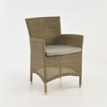 Enna Wicker Dining Arm Chair (Stonewash)-0
