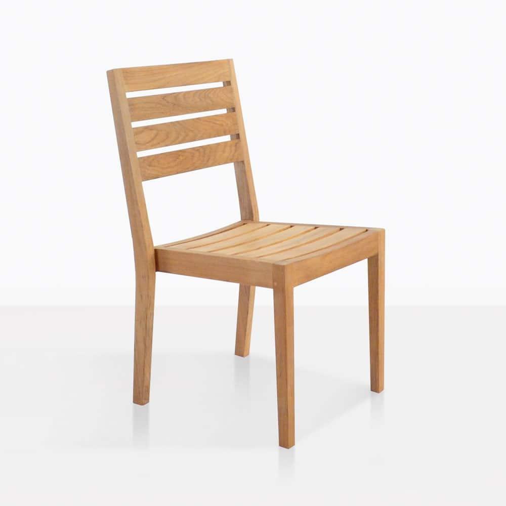 Fiesta Teak Dining Chair Outdoor Restaurant Patio Seating
