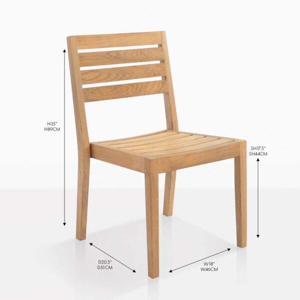 fiesta teak side dining chair