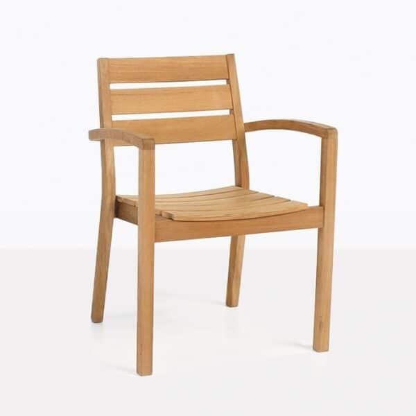 Horizon Teak Stacking Dining Arm Chair-0
