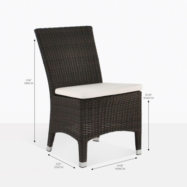 luigi arm chair outdoor wicker dining chair
