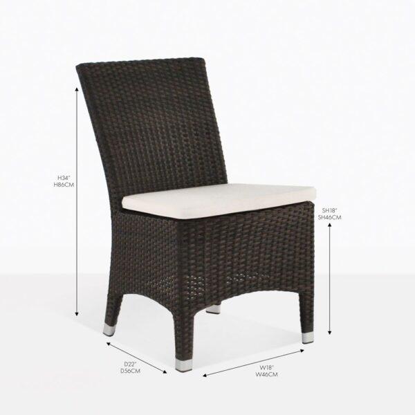luigi arm chair outdoor wicker dining chair