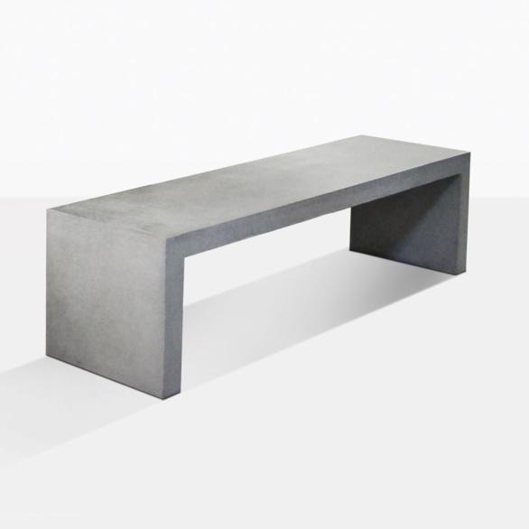 Modern Raw Concrete Dining Bench