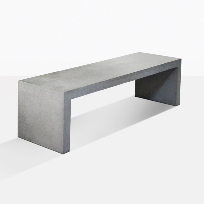 Modern Concrete Benches: Raw Modern Lightweight Concrete Bench