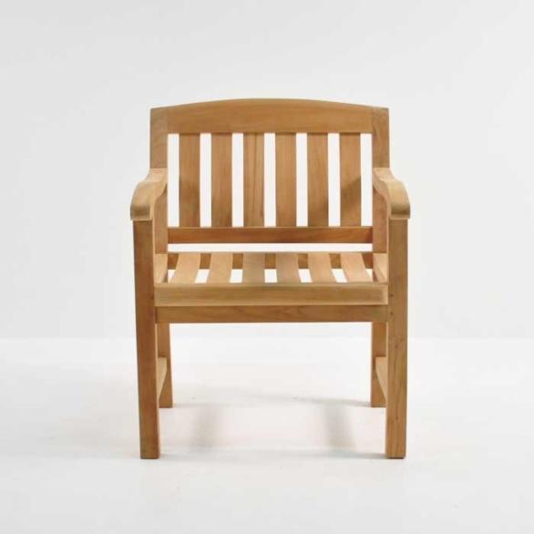 ... Newport Teak Dining Armchair Front View. U201c