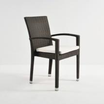 Romansa Wicker Dining Arm Chair (Java)-0