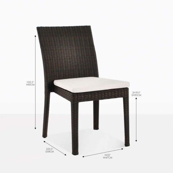 romansa side dining wicker chair