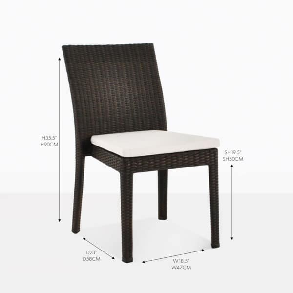 Romansa wicker side java dining chair