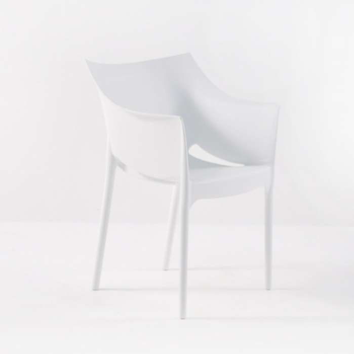 Wing Outdoor Chair in Polypropylene (White)-0