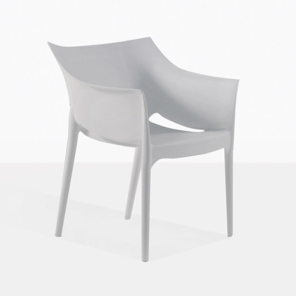Wing Plastic Grey Outdoor Dining Chair