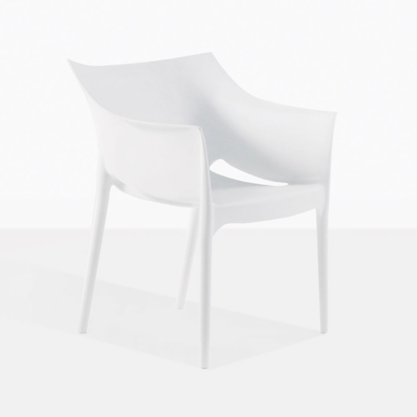 Wing White Plastic Outdoor Dining Chair