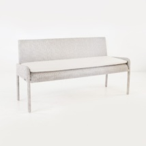 Zambezi Outdoor Wicker Bench (Chalk)-0