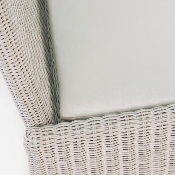 white outdoor wicker closeup