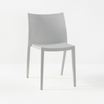 Box Outdoor Dining Chair in Polypropylene (Grey)-0