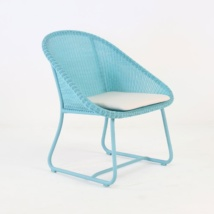 Breeze Outdoor Wicker Relaxing Chair (Blue)-0