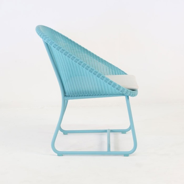 breeze outdoor wicker relaxing chair blue side view