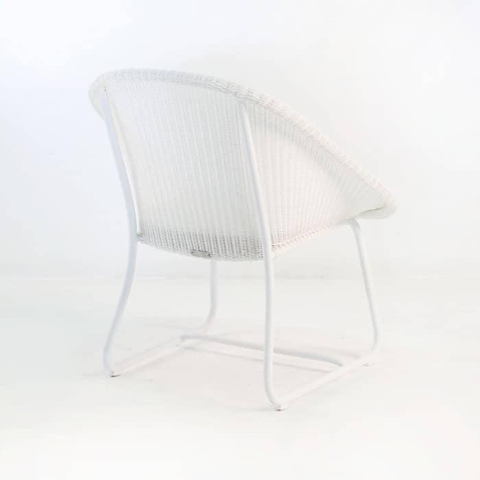 Breeze Outdoor Wicker Relaxing Chair White Teak Warehouse