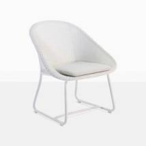 Breeze Outdoor Wicker Relaxing Chair (White)-0