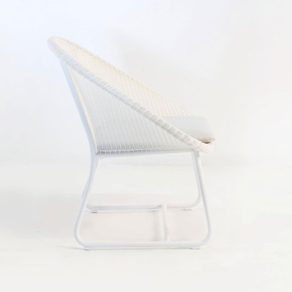 breeze outdoor wicker relaxing chair white side view