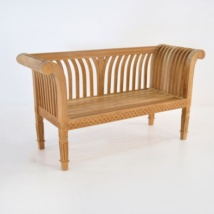Cleopatra Teak Outdoor Bench-0