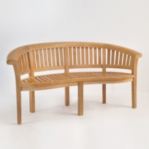 Monet Teak Outdoor Bench-0