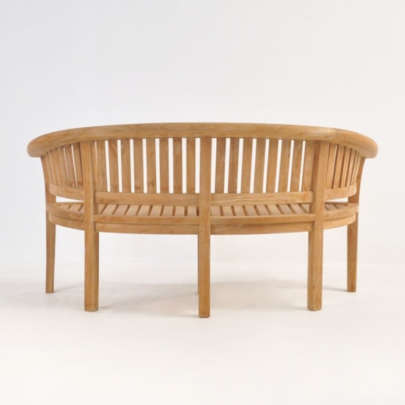 Monet Teak Outdoor Bench 0 Monet Teak Bench Back View. U201c