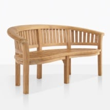 Monet Curved Teak Garden Bench