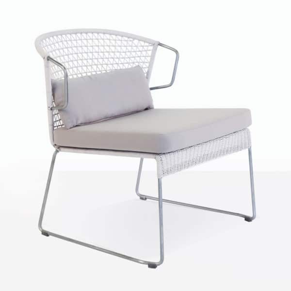 Sophia White Wicker Lounge Chair