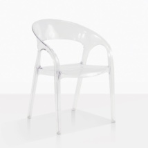 Tub Ghost Clear Plastic Dining Chair