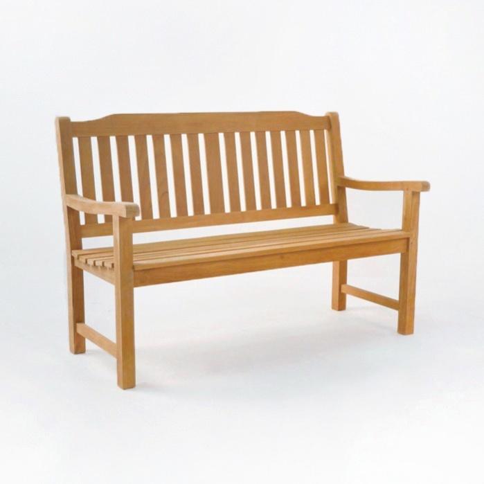 Victory Teak Patio Bench (2 Seat)-0