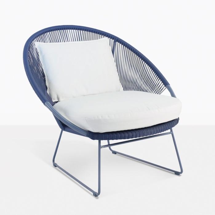 Terrific Natalie Outdoor Relaxing Lounge Chair Blue Cjindustries Chair Design For Home Cjindustriesco