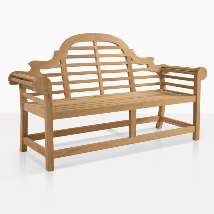 Lutyens Teak Outdoor Bench For Two