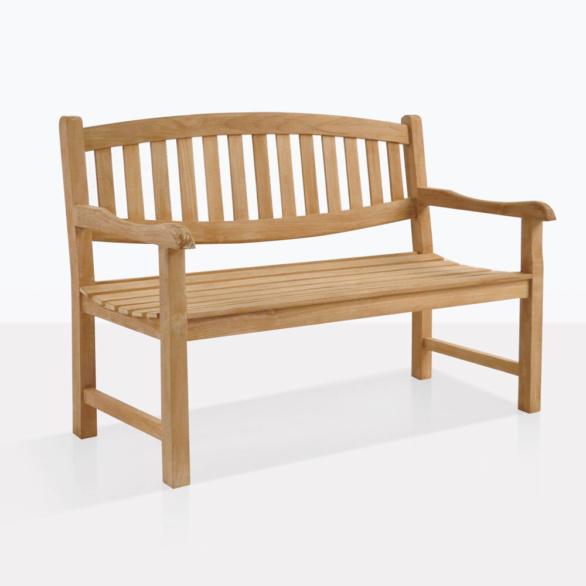 Ovalback Teak Garden Bench For Two