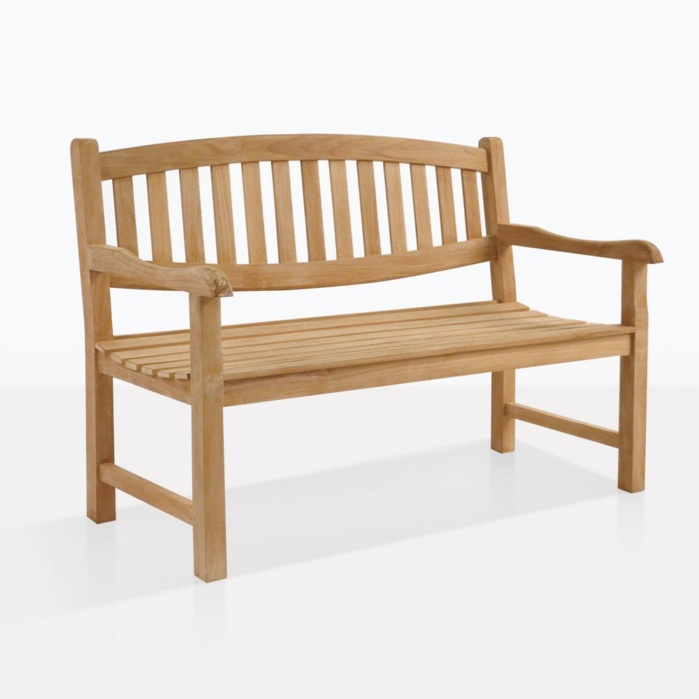 Ovalback Teak Garden Bench For Two