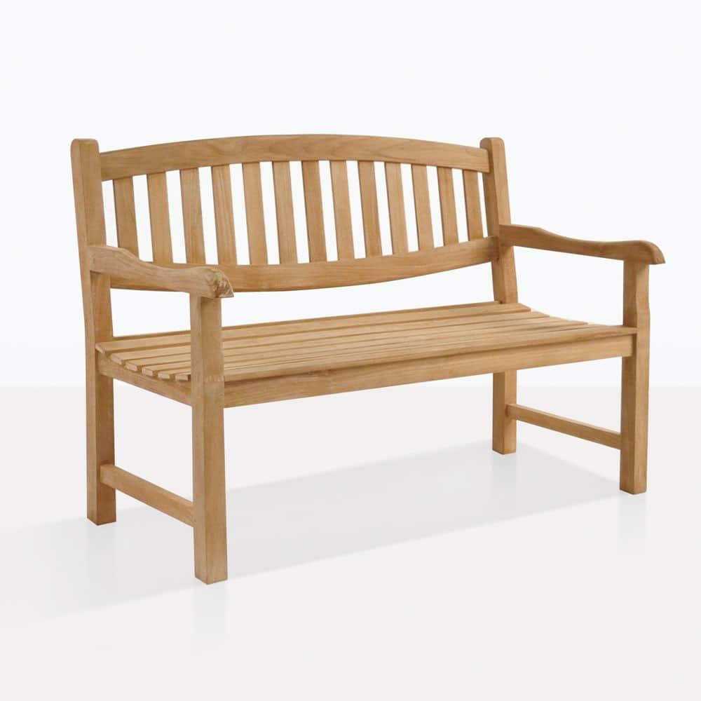 Ovalback Teak Garden Bench 2 Seat Benches Teak Warehouse