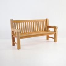 Classic Jumbo Teak Outdoor Park Bench (3 Seat)-0