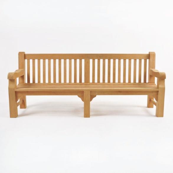 classic jumbo teak park bench 4 seat