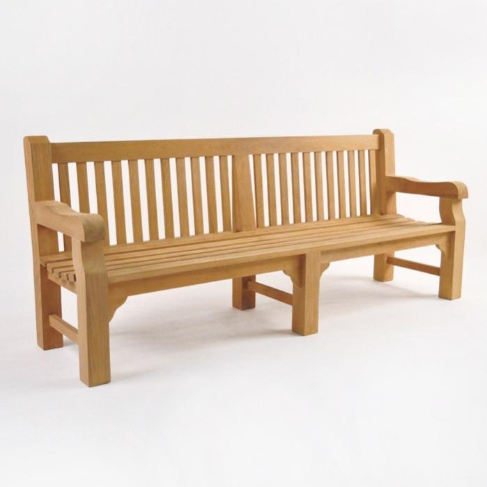 Classic Jumbo Teak Outdoor Park Bench (4 Seat)-0
