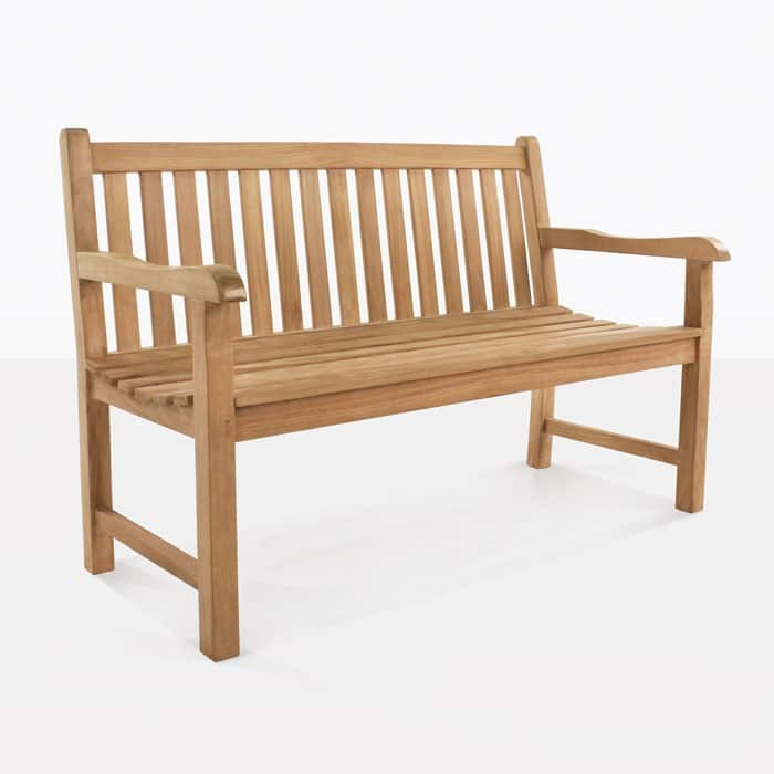 Garden Teak Outdoor Bench 2 Seater