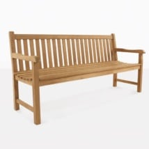 Garden Teak Outdoor Bench 3 Seater