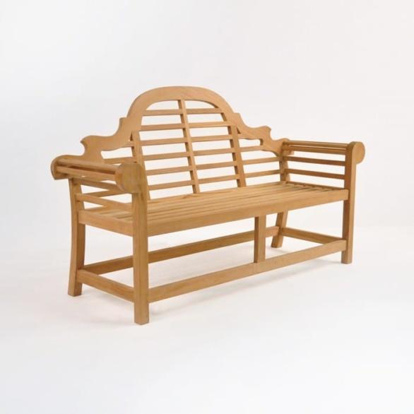 Lutyens Outdoor Bench in Teak (2 Seat)-0